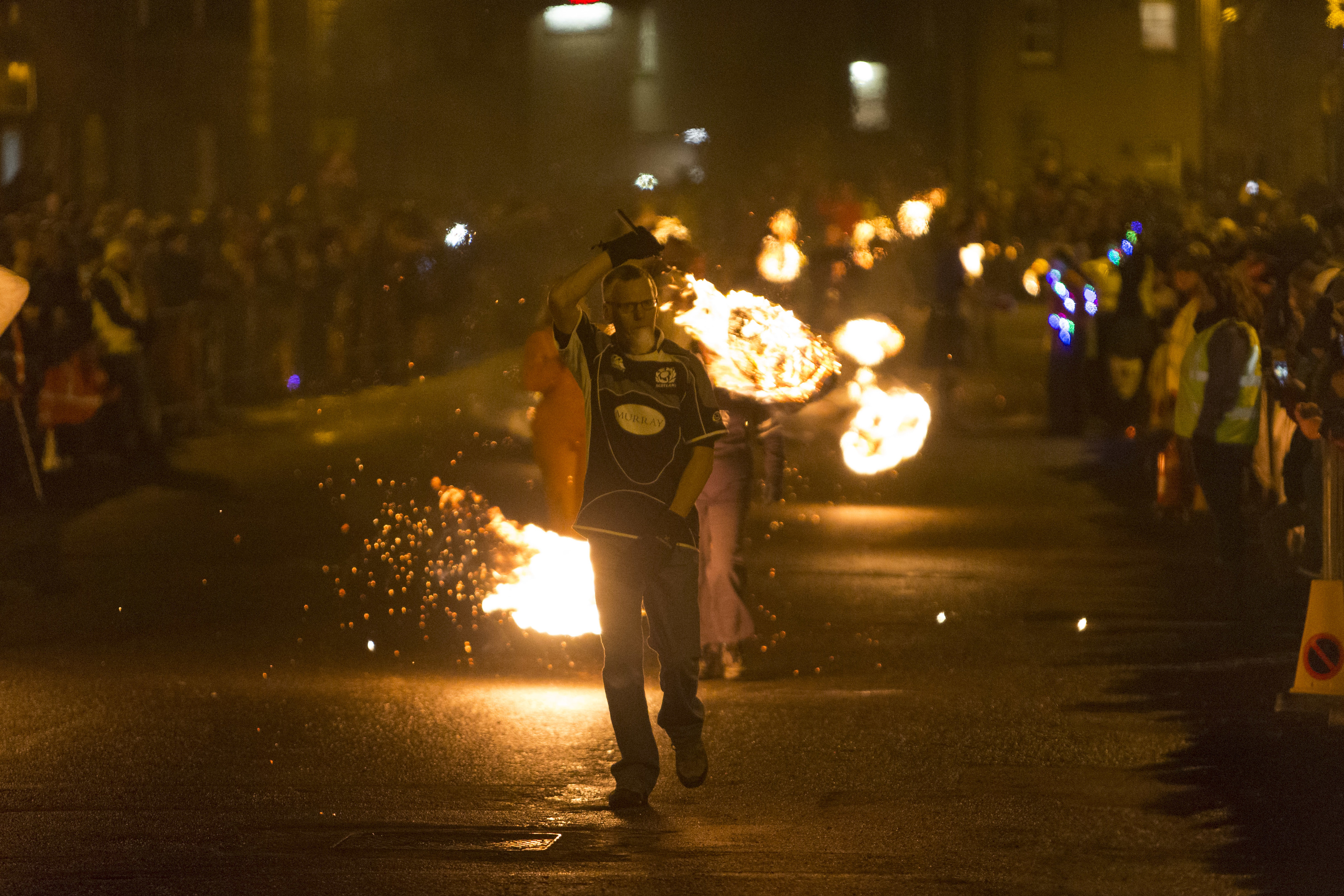 Stonehaven brings in the New Year with the annual fireball celebrations.