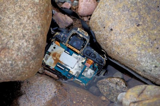 The camera and images found on the camera by Peter Sandground at River Etive