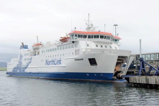 A NorthLink ferry.