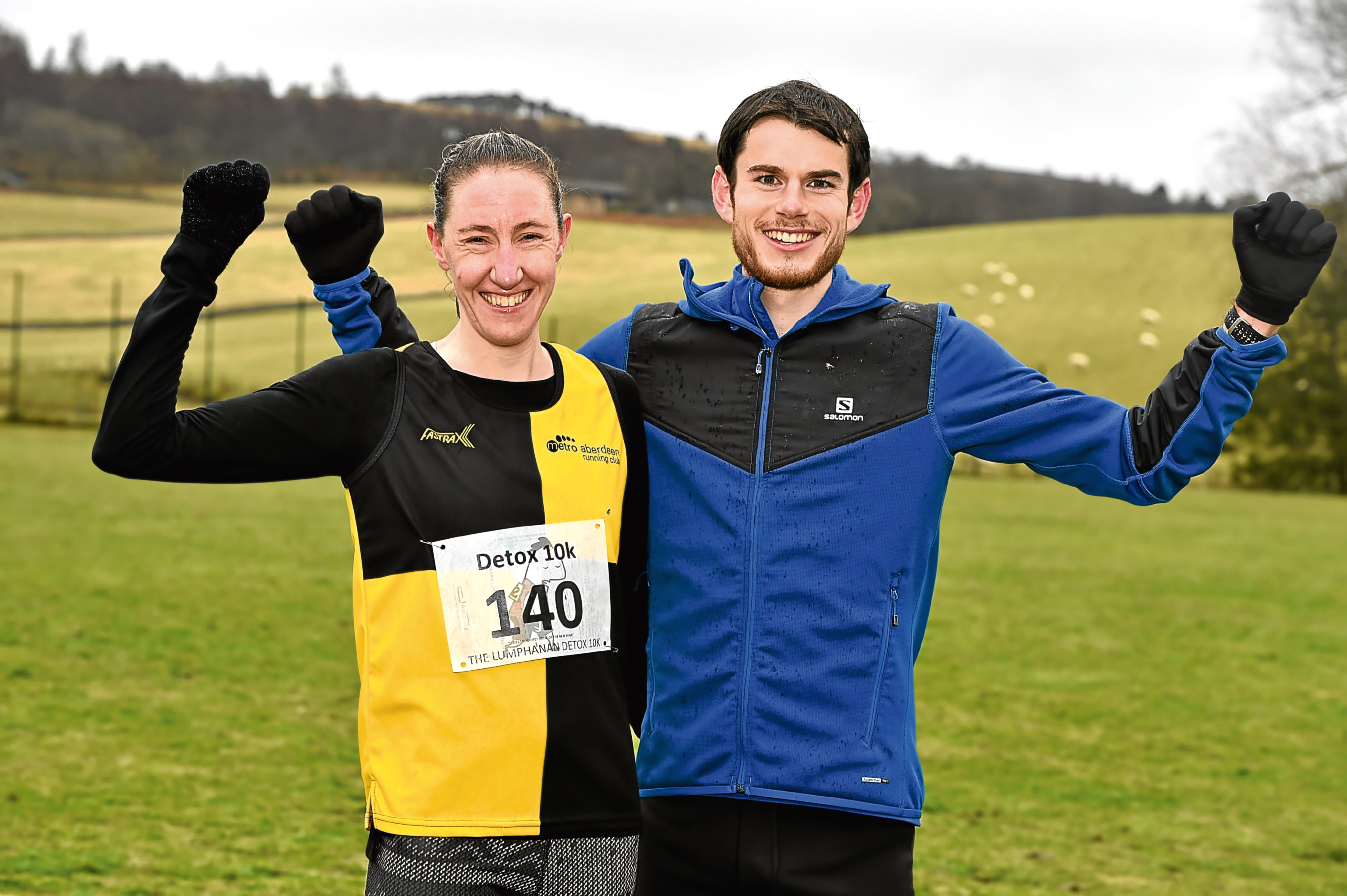 Winners Nicola Gauld and Robbie Simpson.  Picture by Kenny Elrick