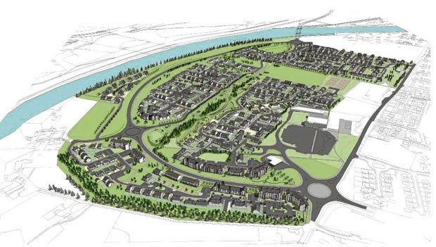 Tulloch Homes  Ness Side Aerial View  artist impression