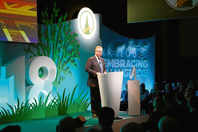 Environment Secretary Michael Gove at Oxford Farming conference