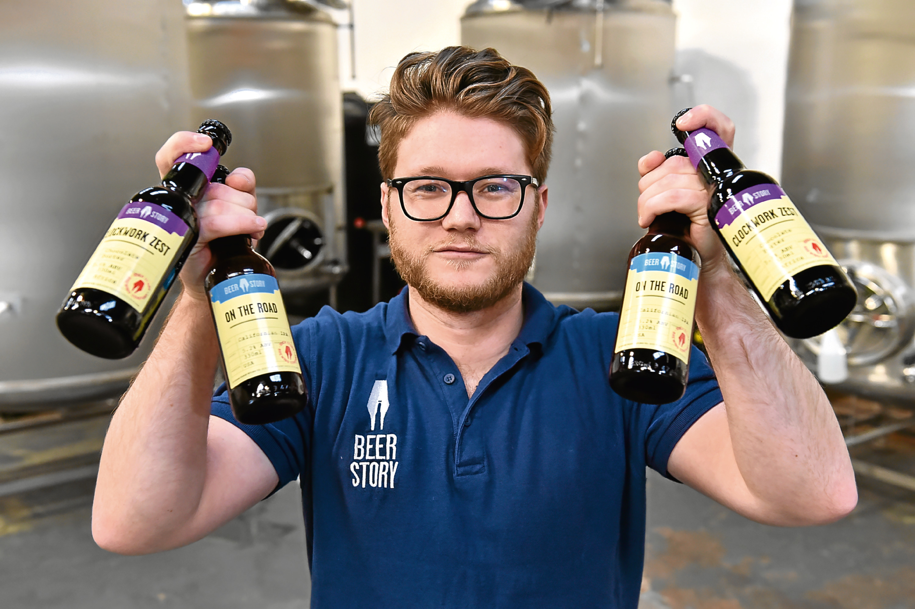 Newly formed Beer Story in Insch, have launched their first two beers which are made with ingredients from around the world. Picture of Philip Anderson.  Picture by KENNY ELRICK     21/12/2017