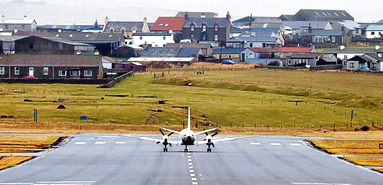 Sumburgh Airport in Shetland