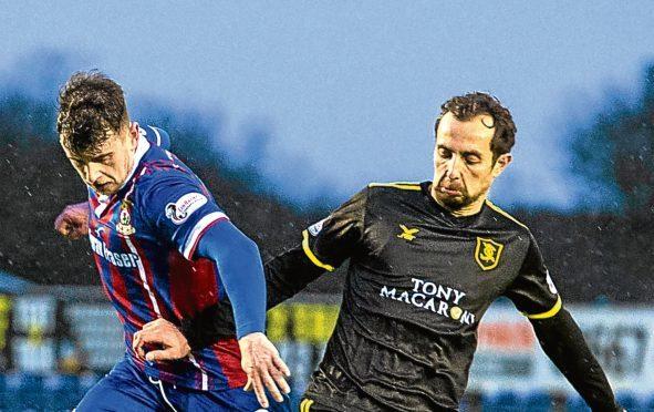 Inverness midfielder Aaron Doran