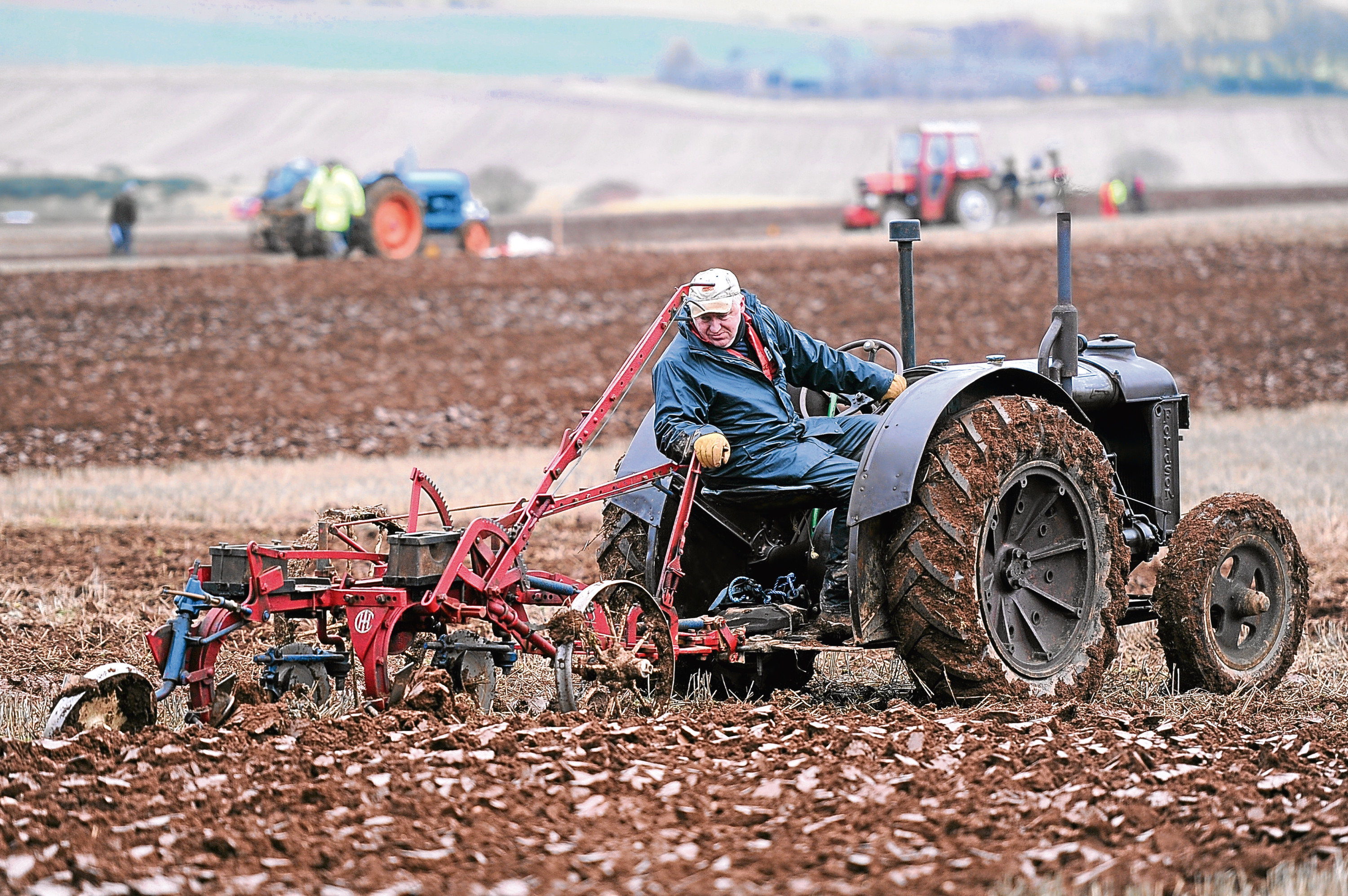 Raymond Smart with his Fordson N tractor and International plough.