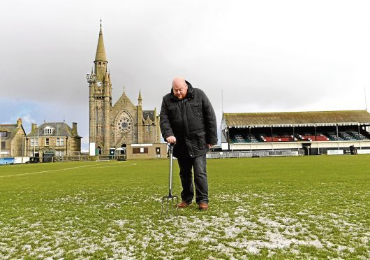 An icy pitch at Bellslea Park meant Fraserburgh's game against Rangers was cancelled.