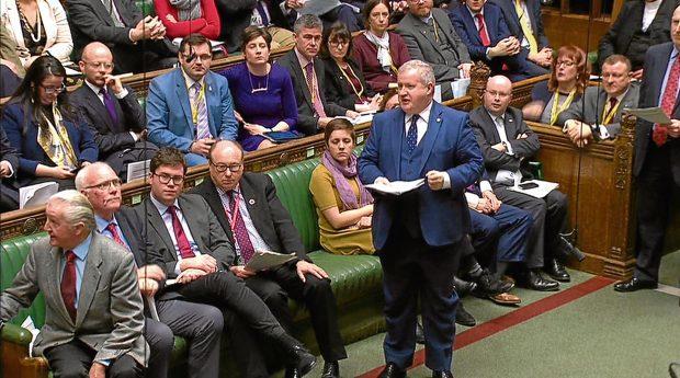 The SNP's Westminster leader Ian Blackford