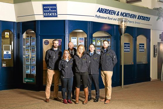 James Craig, Aileen Law, Les Reid, Cara Thomson, James Presly and Andrew MacEwan from Aberdeen and Northern Estates, ANM Group