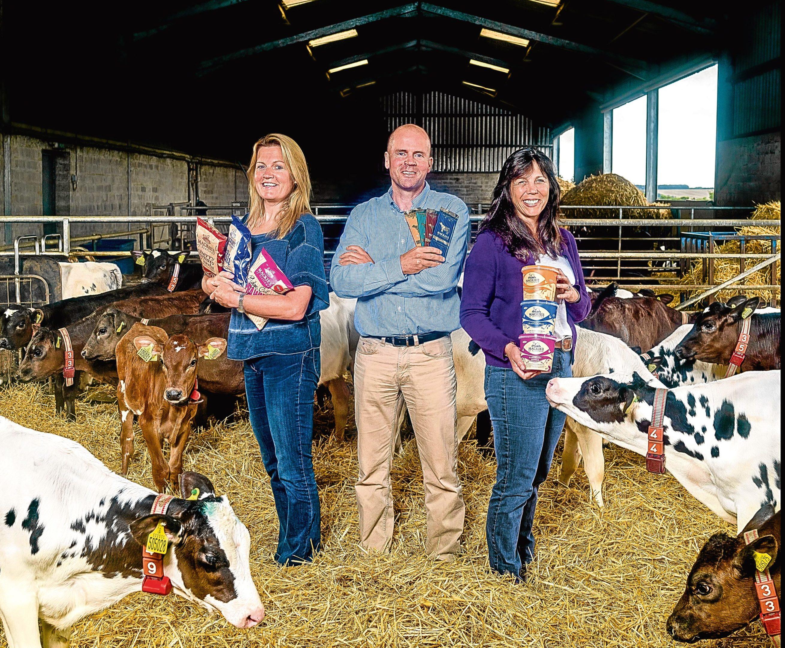 left to right Kirstin Mackie, Mac Mackie and Karin Hayhow