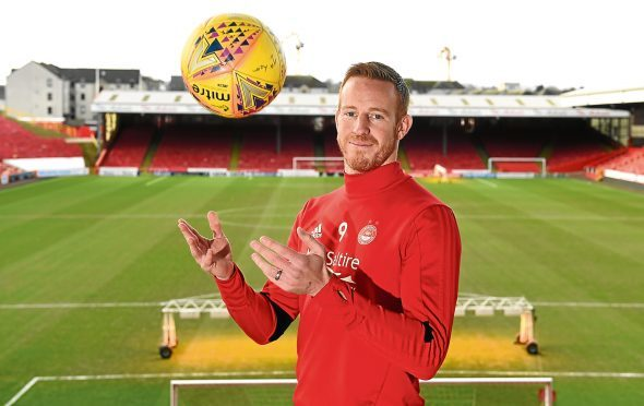 Ladbrokes SPFL Premiership Aberdeen FC (AFC) Pre-match Press Conference against Ross County on Wednesday evening. Picture of Adam Rooney.  Picture by KENNY ELRICK     30/01/2018