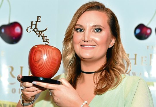 cHerRies Awards 2017 at the AECC.      Awards ;   Pictured - The Blossoming Award - Winner - Emily Duffield of TAQA Bratani Ltd.      by Kami Thomson    01-06-17