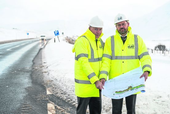 Project managers Murdo Thomson, left (Dalwhinnie to Crubenmore project) and Ross Gray (Glen Garry to Dalwhinnie project manager right). Picture by Jason Hedges.