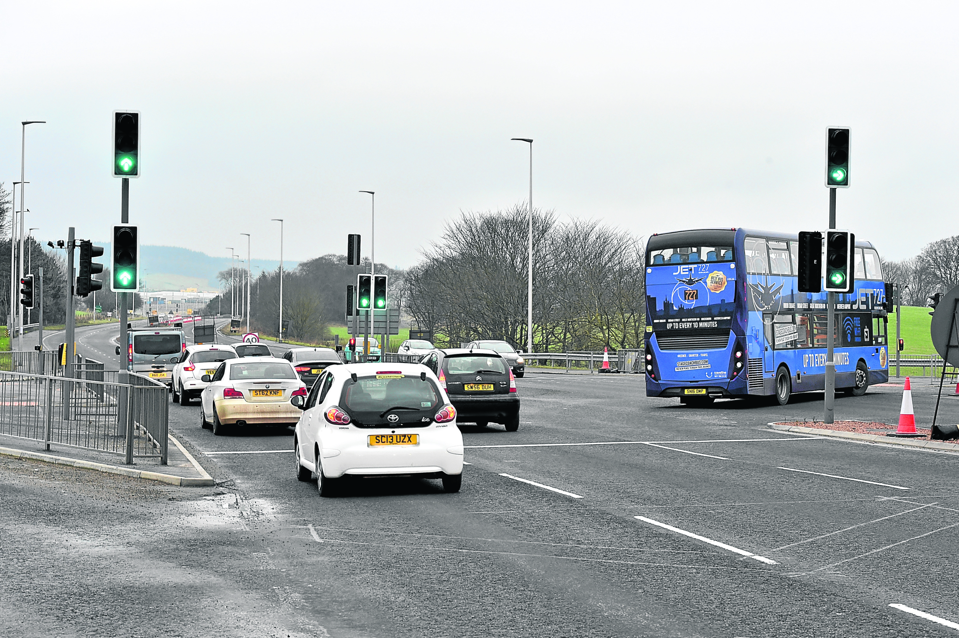 Roadworks will be in place between Dyce Drive and the new roundabout at Aberdeen Airport. Picture by Colin Rennie