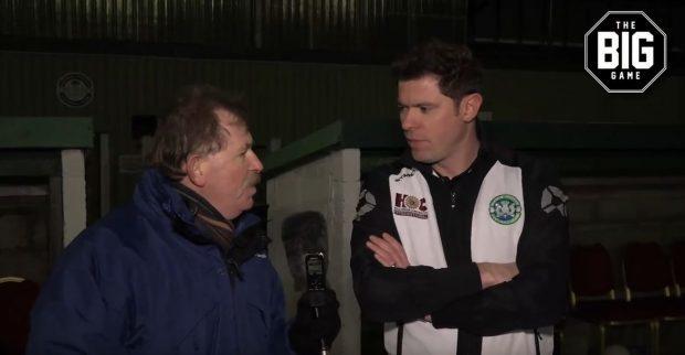 Dave Edwards with Buckie boss Graeme Stewart