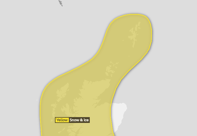 Heavy snow showers and hail to affect North of Scotland communities