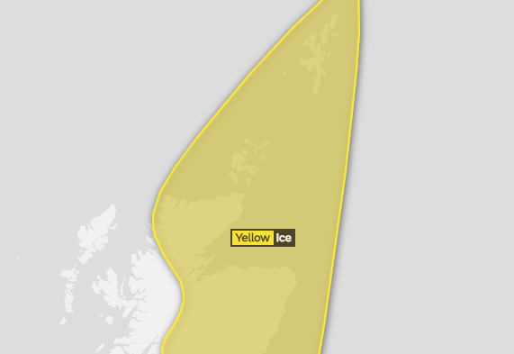 Met Office issue yellow weather warning for north of Scotland