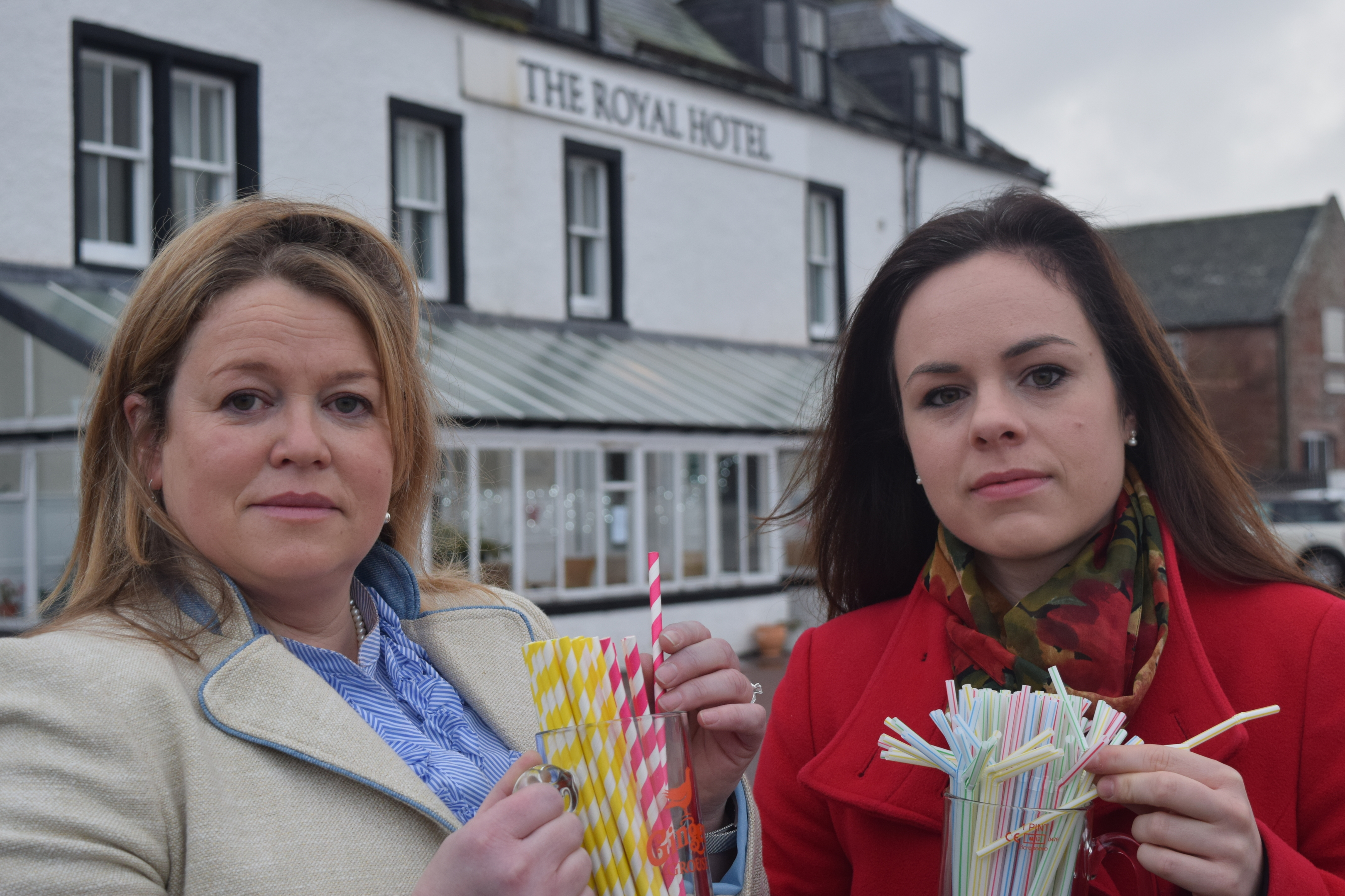 Kate Forbes MSP and Jenny Henderson, owner of the Royal Hotel Cromarty