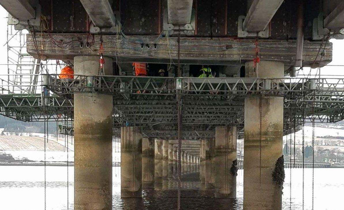 Underneath the Cromarty Bridge