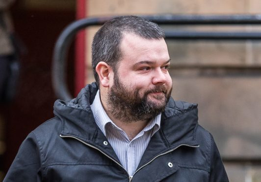 Darren Campbell leaving Elgin Sheriff Court.