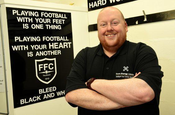 Fraserburgh chairman Finlay Noble at Bellslea Park