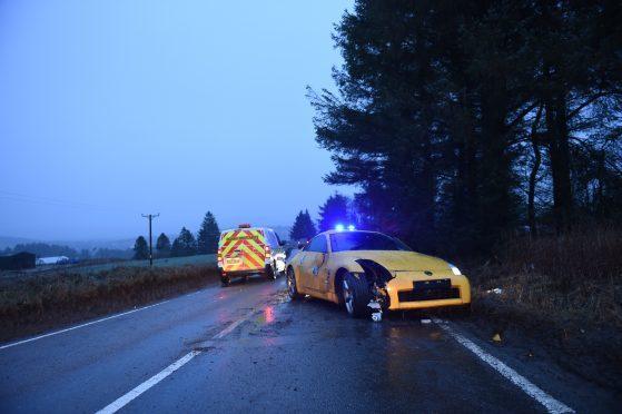 Car rolls over after crashing on north-east roadside