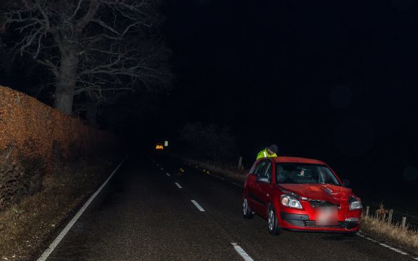The scene on the A862