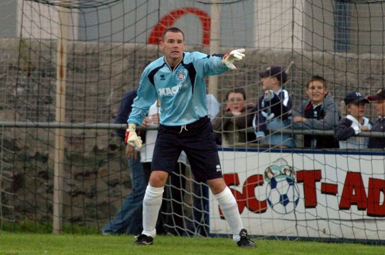Billy Gordon in action for Fraserburgh.