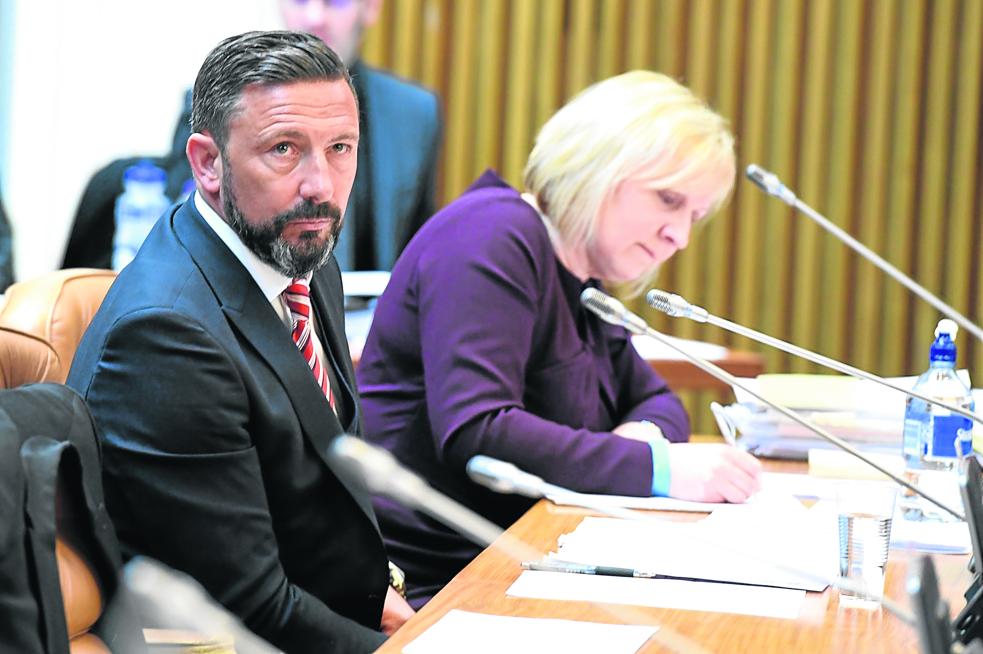 Dons manager Derek Mcinnes at the town house. Picture by Kami Thomson.