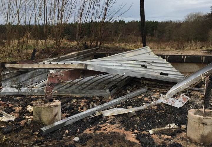 Police are appealing for witnesses who saw anything suspicious at the bird hide on the Altyre Estate. Pic: Linda Mutch