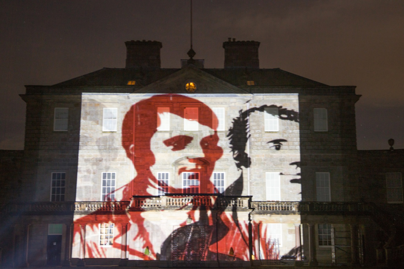 "Images are projected onto Haddo House for ""A Celebration in Light"""