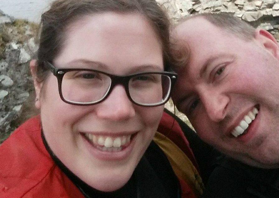 Heather McIver and husband Gary.