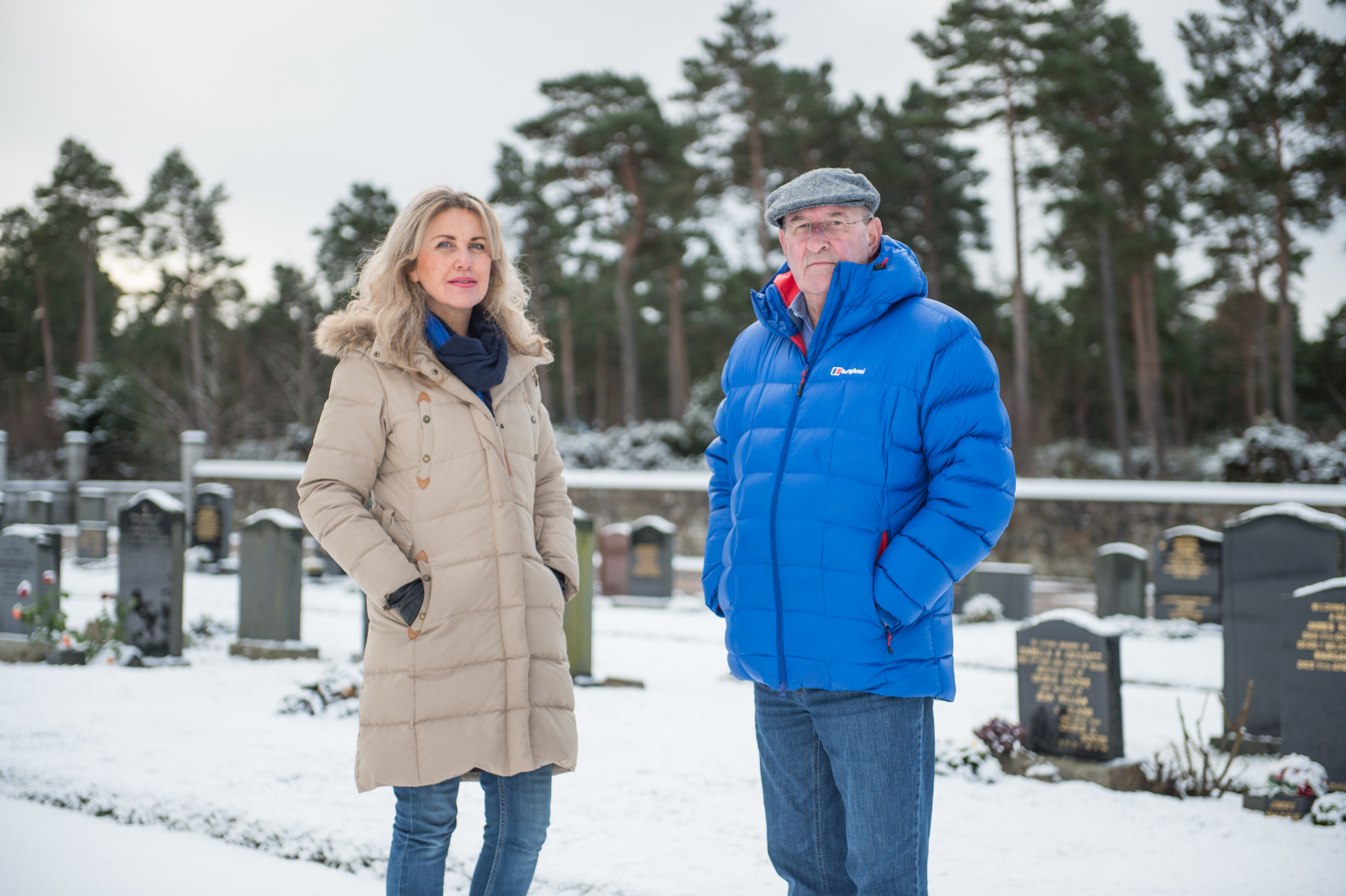 Carolle Ralph, acting secretary of Lossiemouth Community Council, and Mike Mulholland, chairman, are concerned about the impact of a proposed quarry on a cemetery in the town.