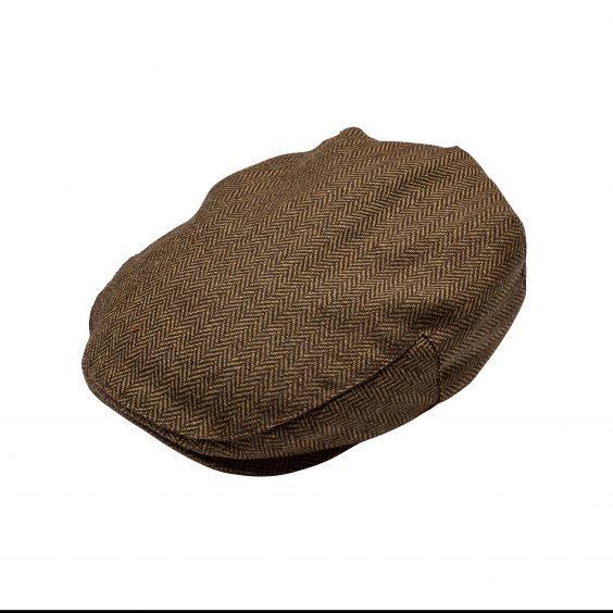 Men's Tweed Flat Cap - Brown £5.99