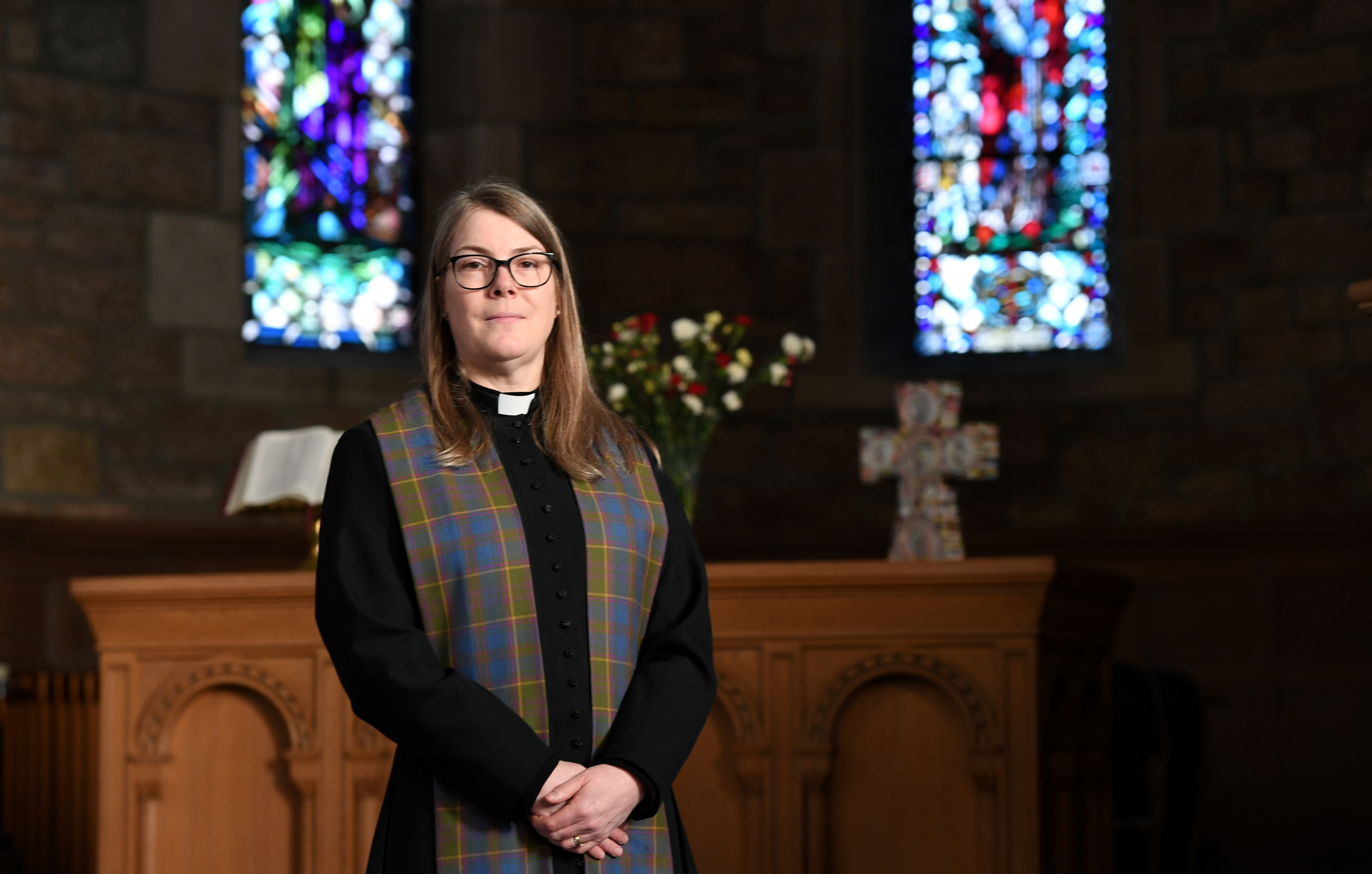 Rev Shuna Dicks, who conducted her last service at Aberlour Parish Church on Sunday before moving to Cults, Aberdeen.     Picture and video by Kami Thomson