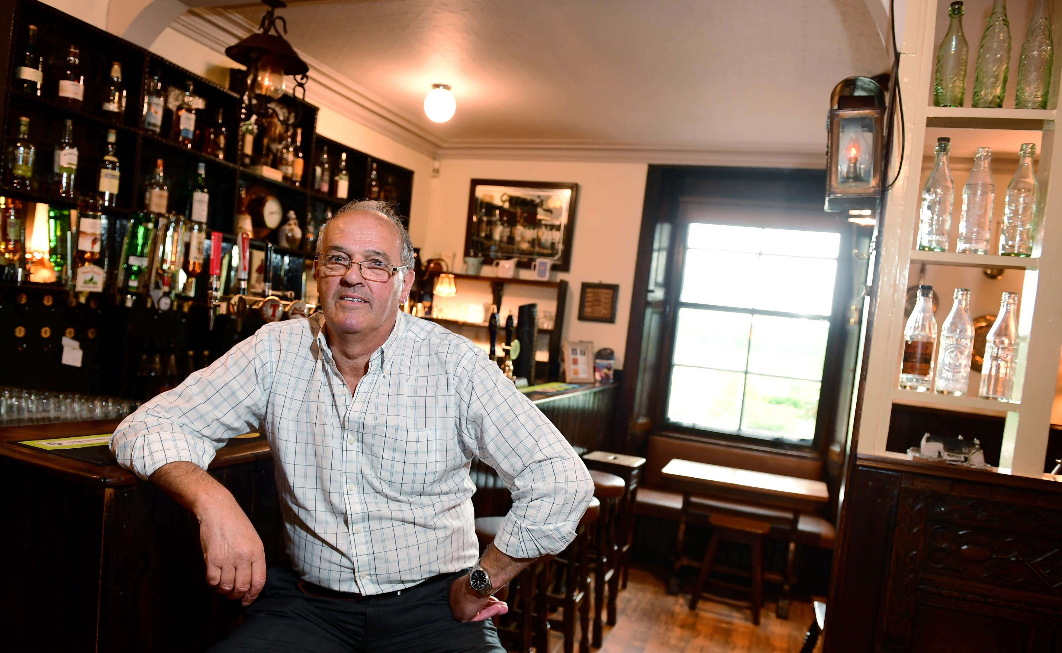 Sandy Law at the Lairhillock Inn, claims his business lost money for nothing after a planned road closure didn't go ahead. (Picture by Kami Thomson)