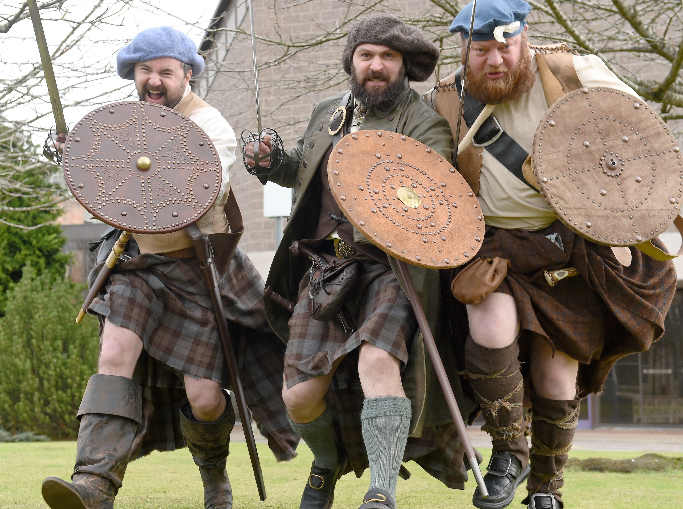 Preparing to do battle with Highland Council to protect Culloden at yesterdays Highland Council Planning meeting in Inverness are (L-R) Grant MacGregor. Andy McAlindon and Steve MacLennan.