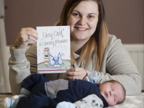 Baby Harry with mum Amy