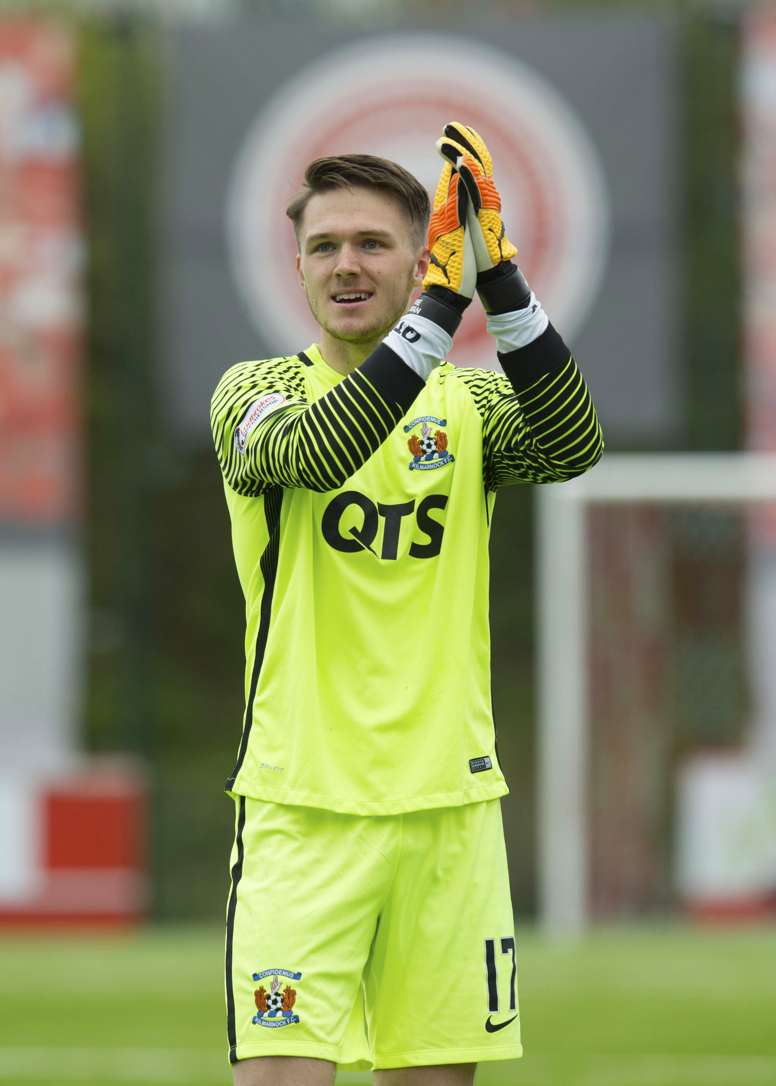 New Aberdeen signing Freddie Woodman, pictured in action for Kilmarnock last season, has the potential to be a Newcastle and England number one.