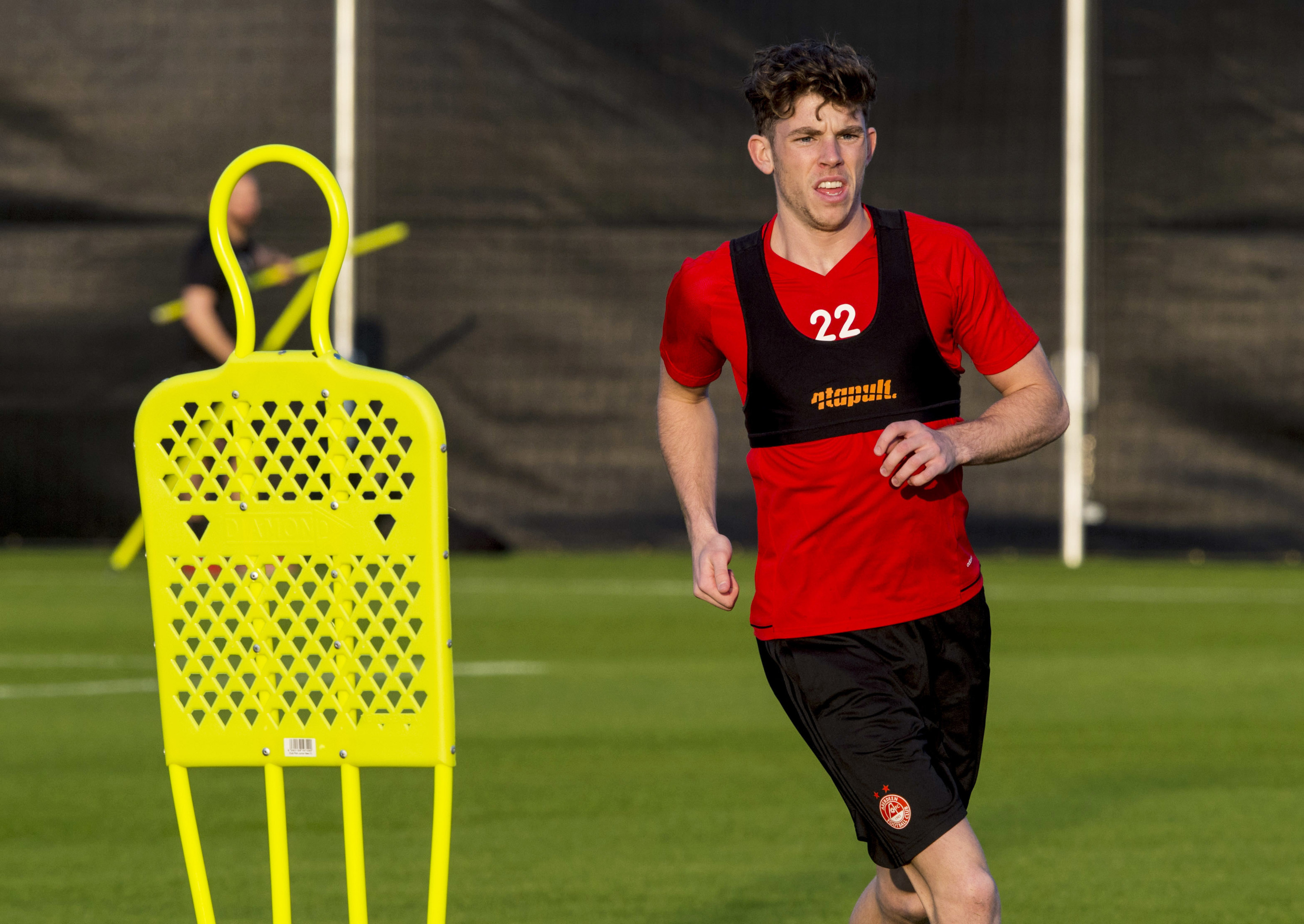Ryan Christie in action at the Dons' training camp in Dubai
