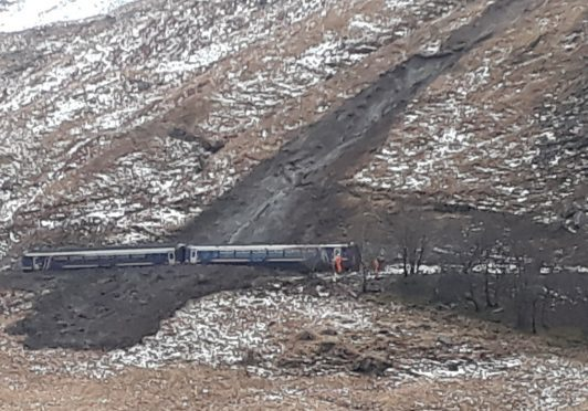 The train was stuck between Glenfinnan and Lochailort