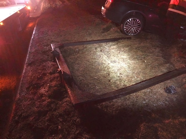 Police say the metal caused the incident