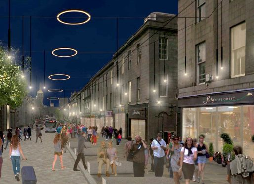 Artist impression of what Union Street could look like