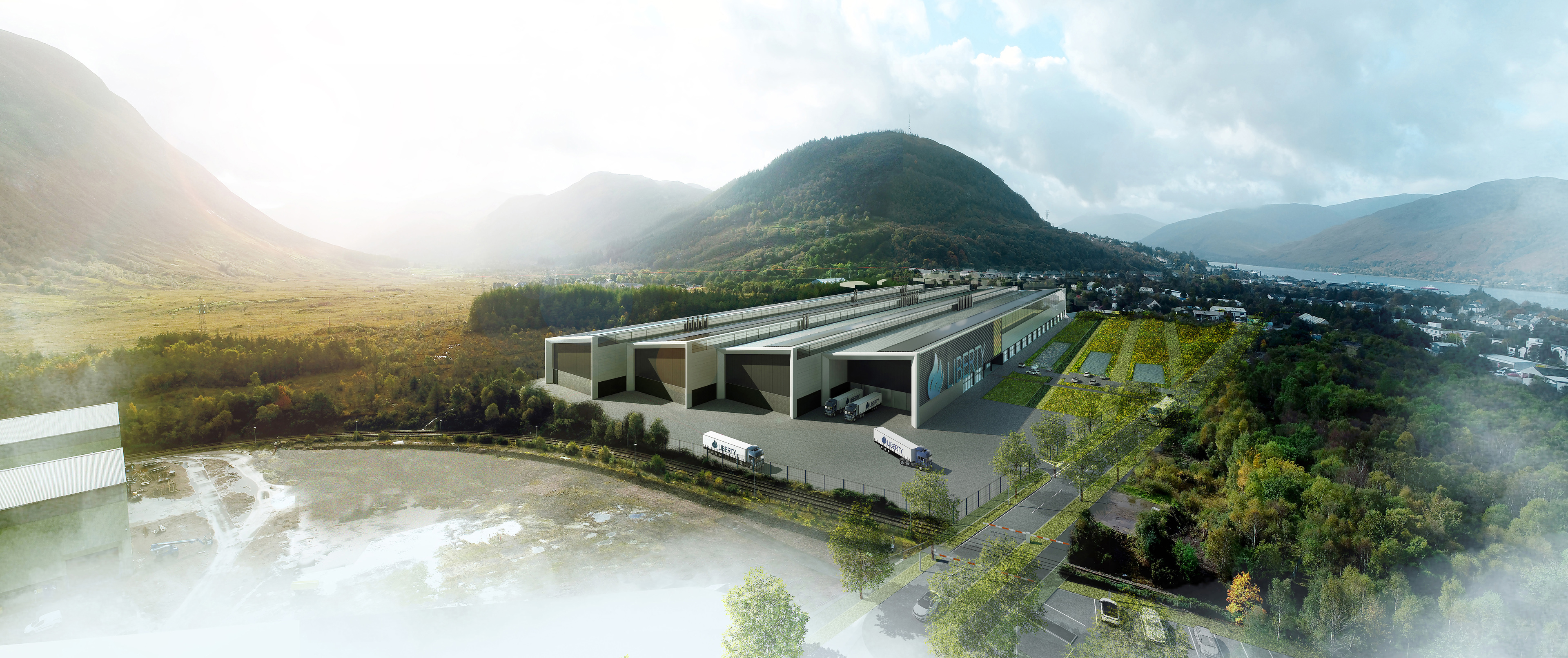 Artist impression showing the planned wheels factory in Fort William