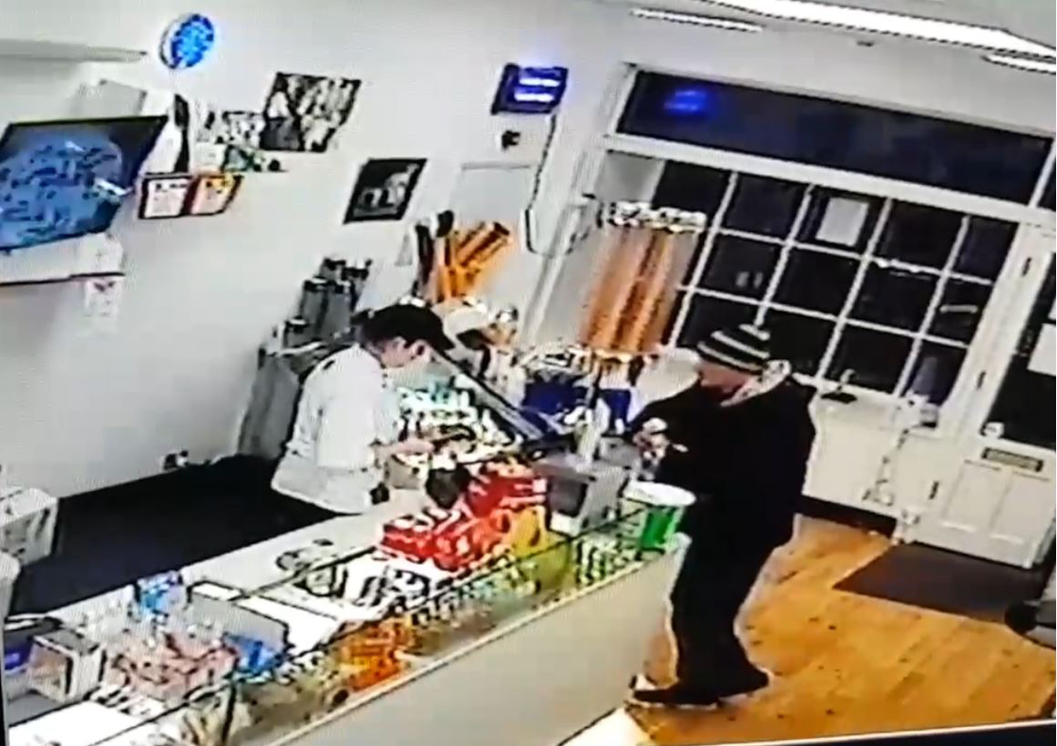 Screengrab from Miele's Gelateria's CCTV in Inverness.