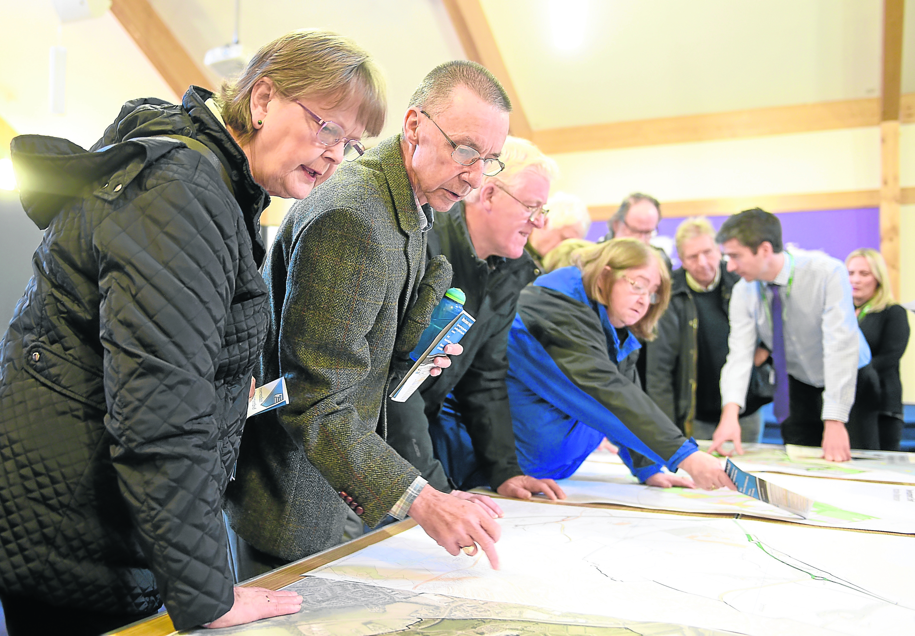 The next stage in the planning of Inverness East took place yesterday with a Highland Council drop in session in Smithton Church. Pic by Sandy McCook