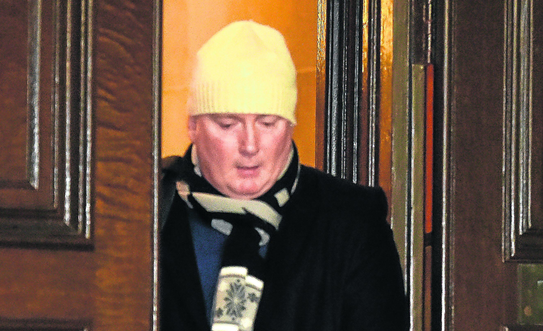 Accused, Wayne Ledingham at court, Aberdeen