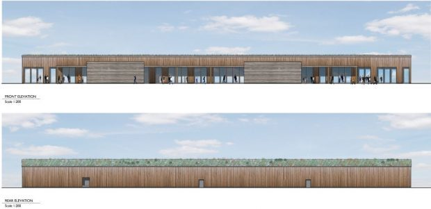 An artist's impression of the proposed Ury supermarket in Stonehaven