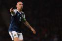 Scotland captain Scott Brown in action.