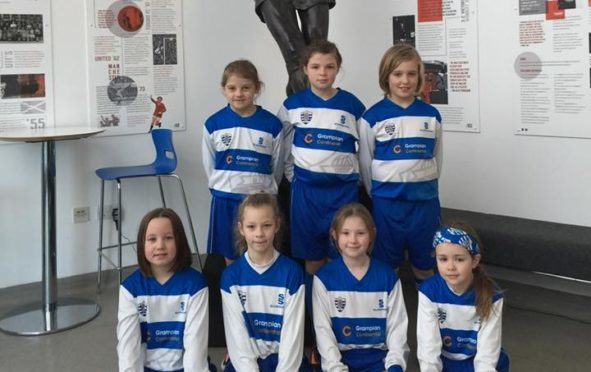 Back row, L-R are Orla Arnott, Baylee Hosford and Leah Boag Front row, L-R are Elle Leslie, Nikola Biedron, Lily Lynch and Isla Anderson